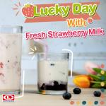 Lucky Day with Fresh Strawberry Milk